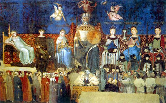 Il Buongoverno, Ambrogio Lorenzetti, Siena, 1337-1339
