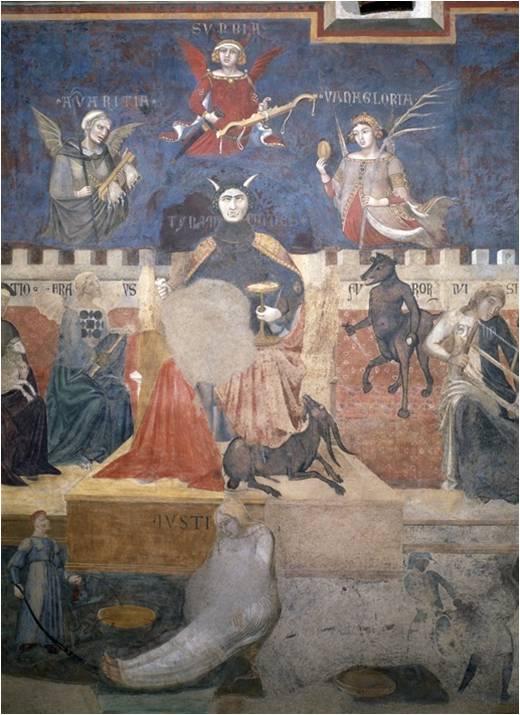 Il Malgoverno, Ambrogio Lorenzetti, Siena, 1337-1339