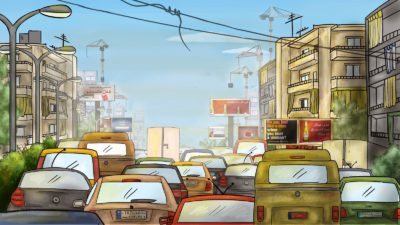 traffico quotidianità beirut libano massoud tania iskandar