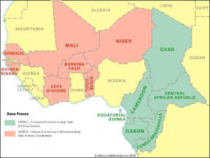 franco cfa franco africano zona africaa economia cultura